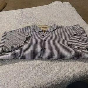 Snappy blue strip shirt